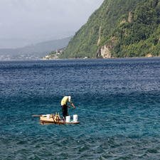 Soufriere Bay Off Pointe Michel