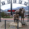 Statue At Entrance To Yreka Historic District