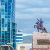 Statue Of Sukhbaatar In Ulaanbaatar