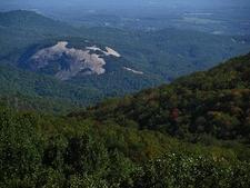 Stone Mountain From Blue Ridge Parkway NC