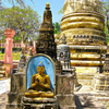 Stupas Mahabodhi Temple