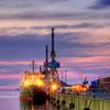 Sunset Over Rostock Harbour