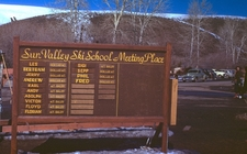 Sun Valley Ski School Sign