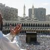 Supplicating Pilgrim At Masjid Al Hara