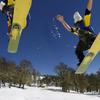 Snowboarder In Chapelco Ski Centre