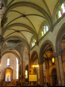 The Central Nave And Ceiling Of The Cathedral