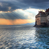 The Sun Sets On Chillon Castle