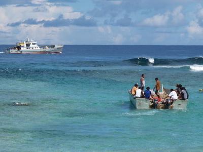 Tokelau Barge