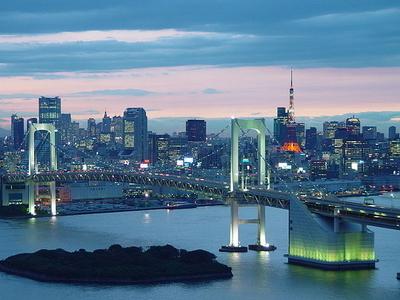 Tokyo Bay Seen From Odaiba