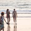 Tourists At Beach