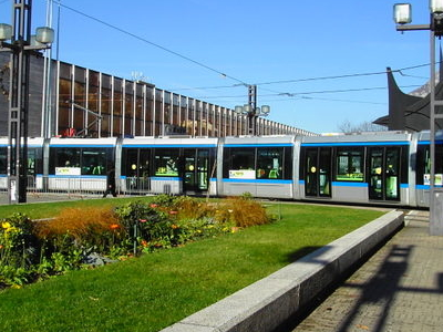 The Train Station And A Tram