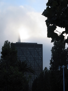 Transamerica Building In Clouds