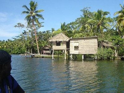 Typical House Besides The Lake