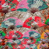 Colorful Hanging Fans At The Temple