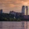 The Twin Towers On The Right Bank Of The Dnieper River.