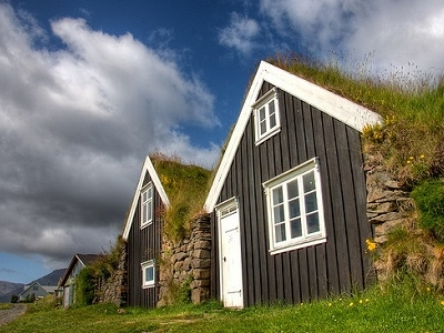 Vatnajokull Houses Protected By Nature