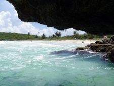 Navío Beach From A Nearby Sea Cave