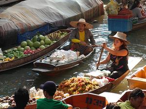 Floating Markets & Bridge On River Kwai Tour From Bangkok Photos