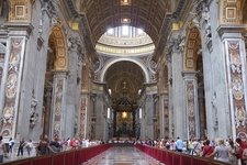View Inside Saint Peter's Basilica - Vatican