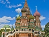 View St. Basil's Cathedral In Moscow Red Square
