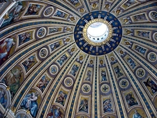 View St. Peter's Cathedral Ceiling In Vatican