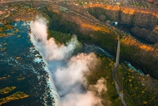View Victoria Falls From Above - Zimbabwe