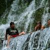 Visitors Enjoying Juayua Falls