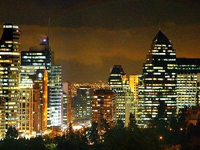 City Of Santiago At Night
