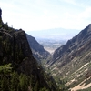 View Down American Fork Canyon To Utah Valley