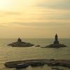 Vivekananda Rock Valluvar Statue At Sunrise