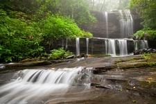 Waterfall In Blue Ridge Mountains - South Toe NC