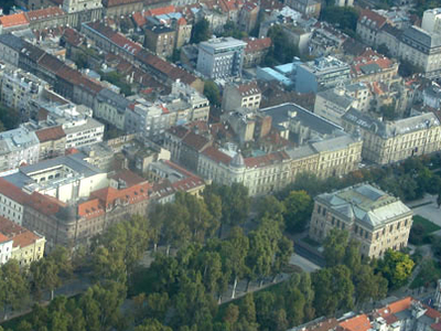 Aerial View Of Zagreb City Center