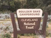 Cleveland Boulder Oaks Campground