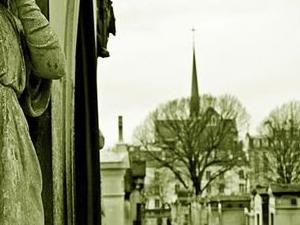Famous Graves of Paris at Père Lachaise cemetery (Winter Season) Photos