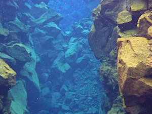 Fissure Snorkeling in Lake Silfra in Thingvellir National Park Photos