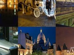 Paris by Night in a Vintage Car or Horse-drawn Coach Photos