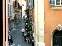 In the historic center of Rome ...