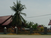 Malay traditional house near beach