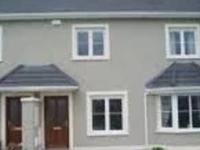 Suburb new quiet housing estate