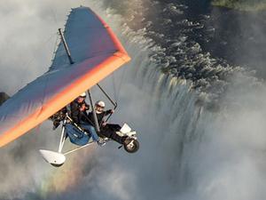 Microlight Flight Over the Victoria Falls Photos