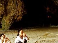 Elderly Women Praying In Nhi Thanh Cave  Lang Son