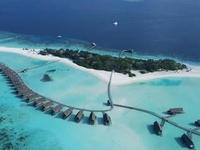 Aerial Shot Cocoa Island Maldives