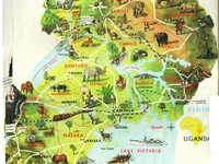 Detailed Travel Map Of Uganda
