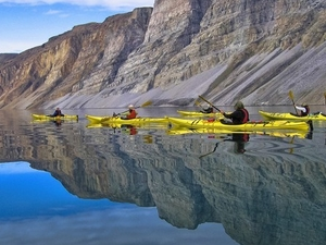 Kayaking Amongst Greenland's Icebergs Photos