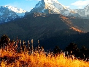Sunrise At 3400 m With The Tallest Himalayas Photos