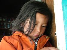 Little Girl In Restaurant