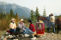 Covered Wagon or Horseback Ride in Banff with Western Cookout Photos