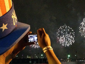 4th of July Fireworks Viewing Party on New York City's Hudson River Pier  Photos