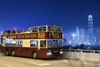 Hong Kong Open-Top Night Bus Tour Photos
