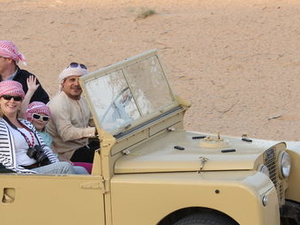 Luxury Desert Experience: Dinner and Emirati Activities with Vintage Land Rover Transport from Dubai Photos